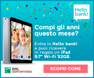 Promozione Hello bank! Happy Birthday